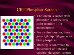 crt phosphor screen