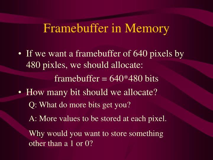 Framebuffer in Memory