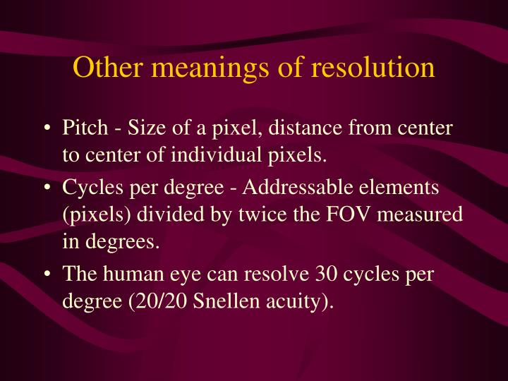 Other meanings of resolution