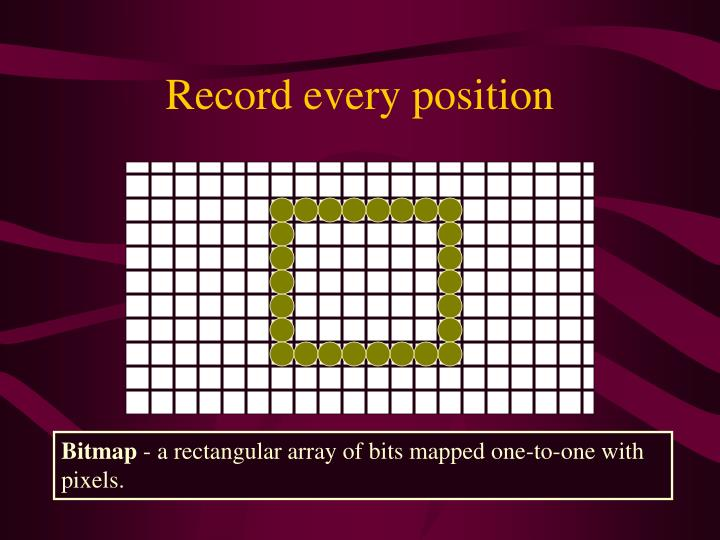 Record every position