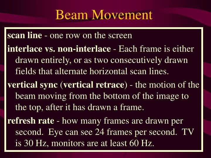 Beam Movement