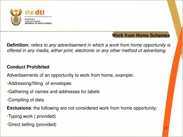 Work from Home Schemes