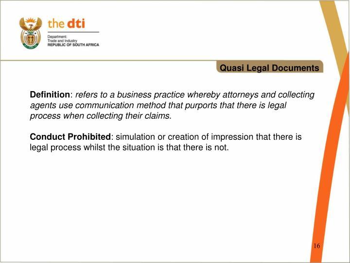 Quasi Legal Documents