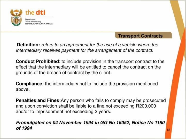 Transport Contracts