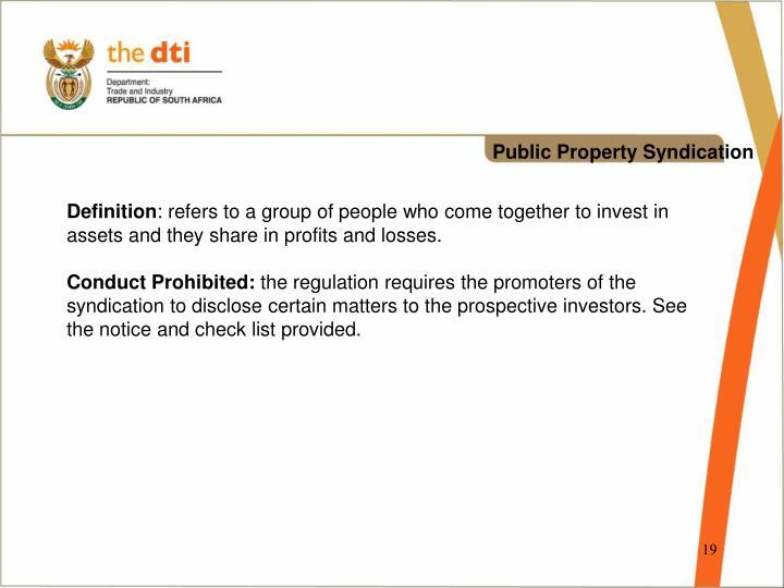 Public Property Syndication