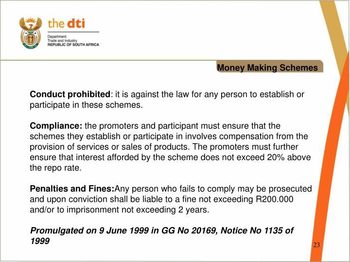 Money Making Schemes