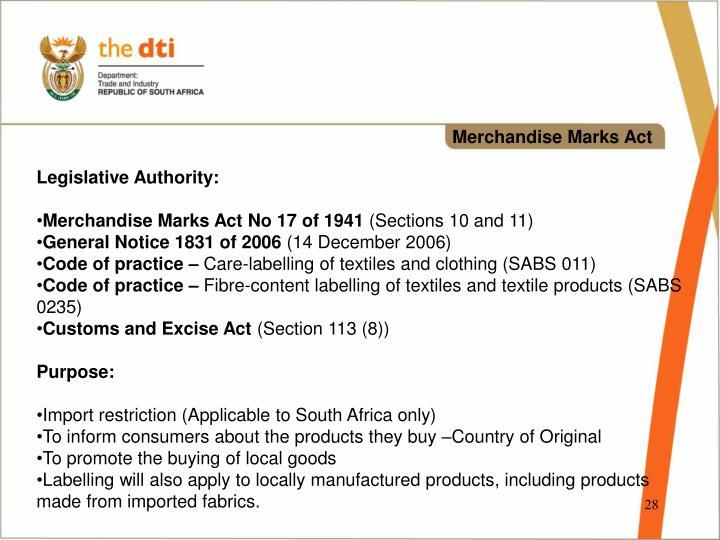 Merchandise Marks Act