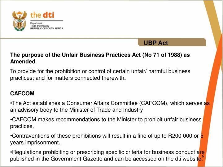 UBP Act