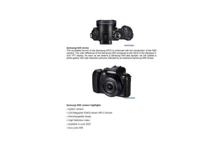 Samsung nx5 review