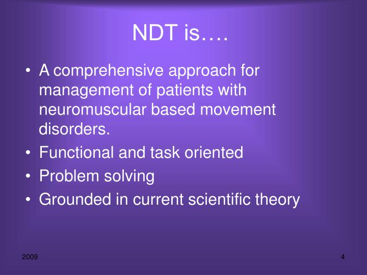 NDT is….