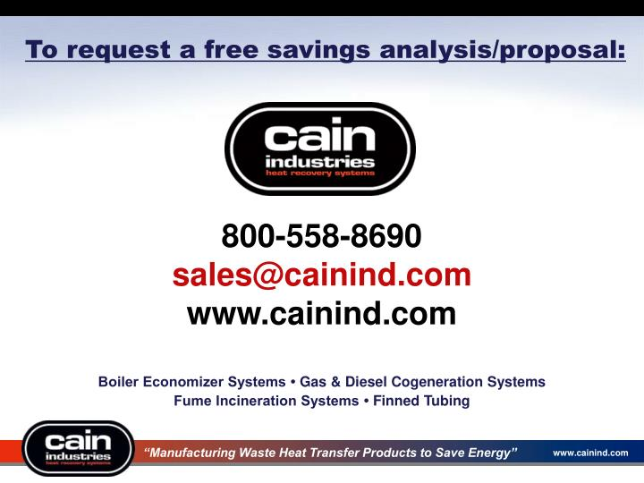 To request a free savings analysis/proposal: