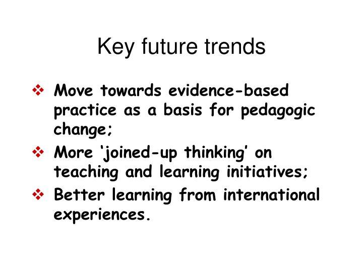 Key future trends