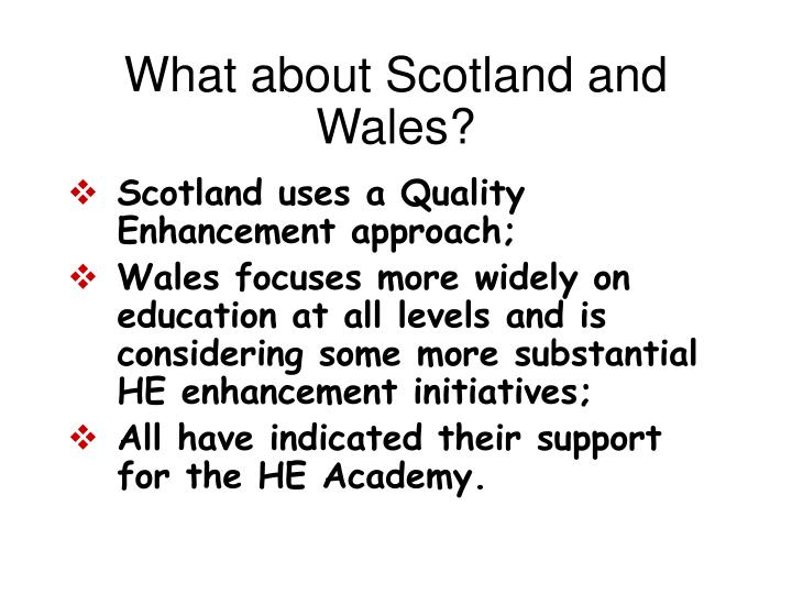 What about Scotland and Wales?