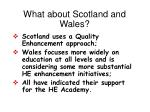 what about scotland and wales