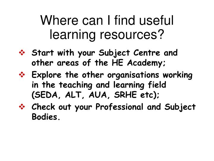 Where can I find useful learning resources?