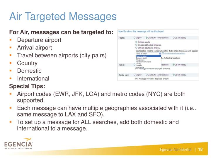 Air Targeted Messages