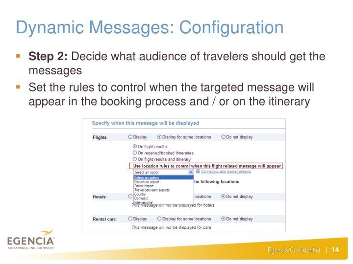 Dynamic Messages: Configuration
