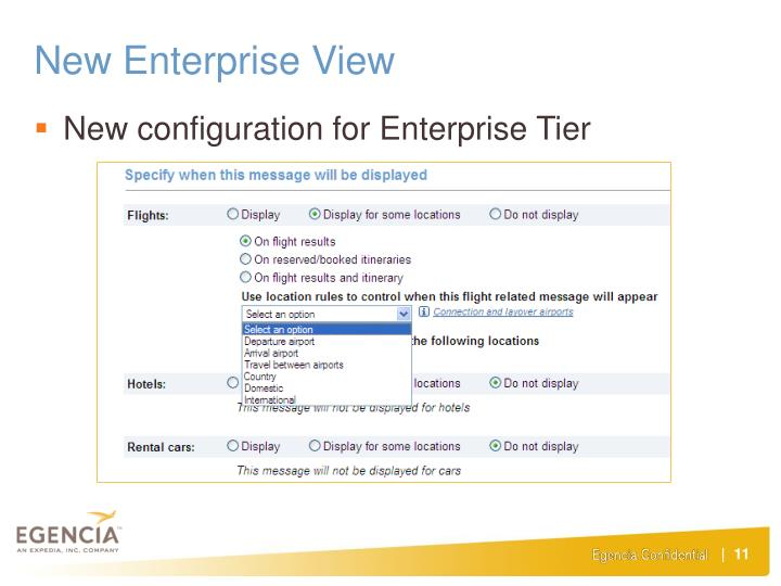 New Enterprise View