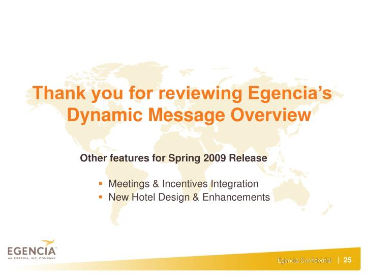 Thank you for reviewing Egencia's