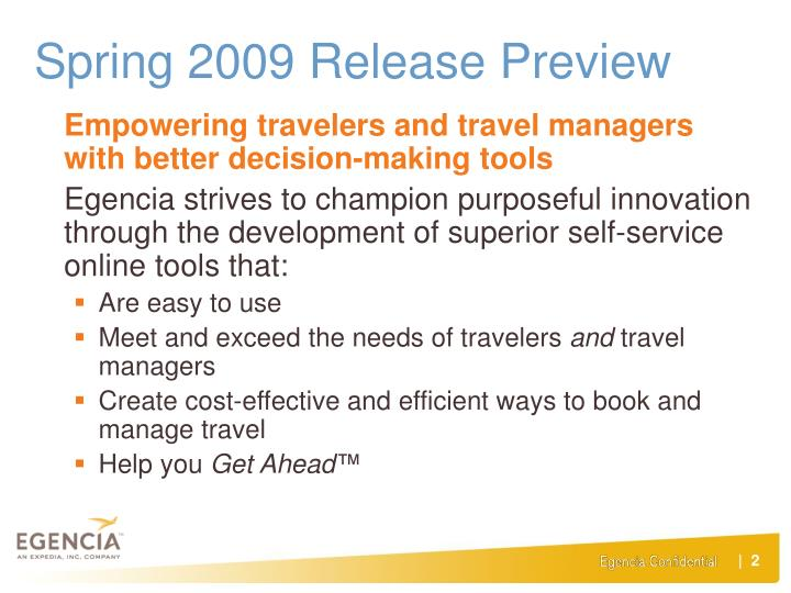 Spring 2009 Release Preview