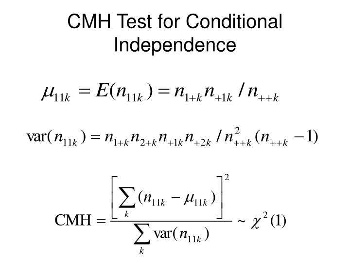 CMH Test for Conditional Independence