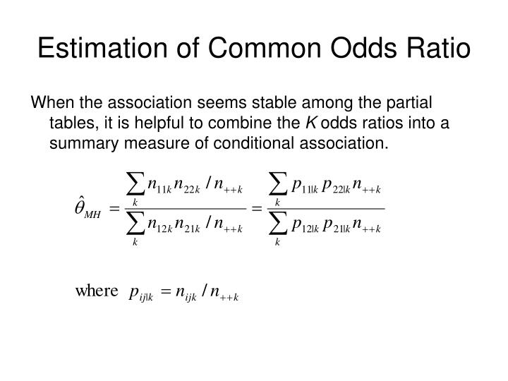 Estimation of Common Odds Ratio