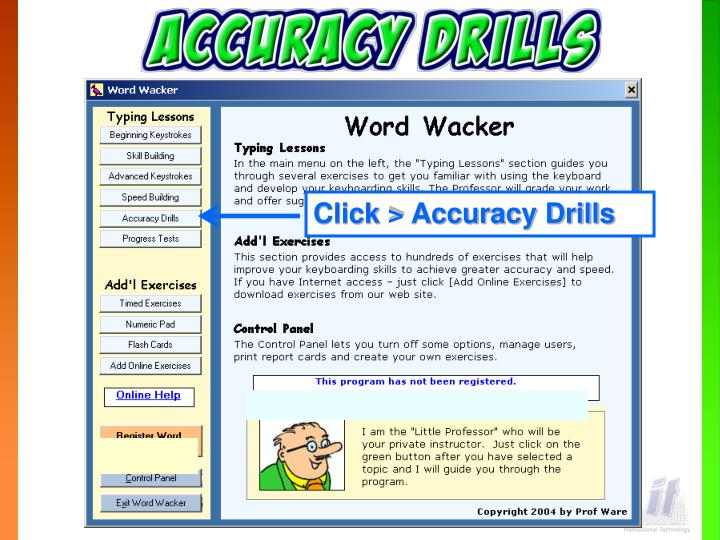 Click > Accuracy Drills