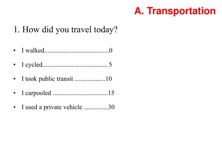 A. Transportation