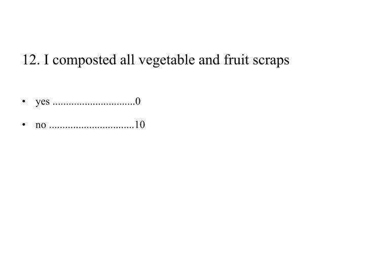 12. I composted all vegetable and fruit scraps
