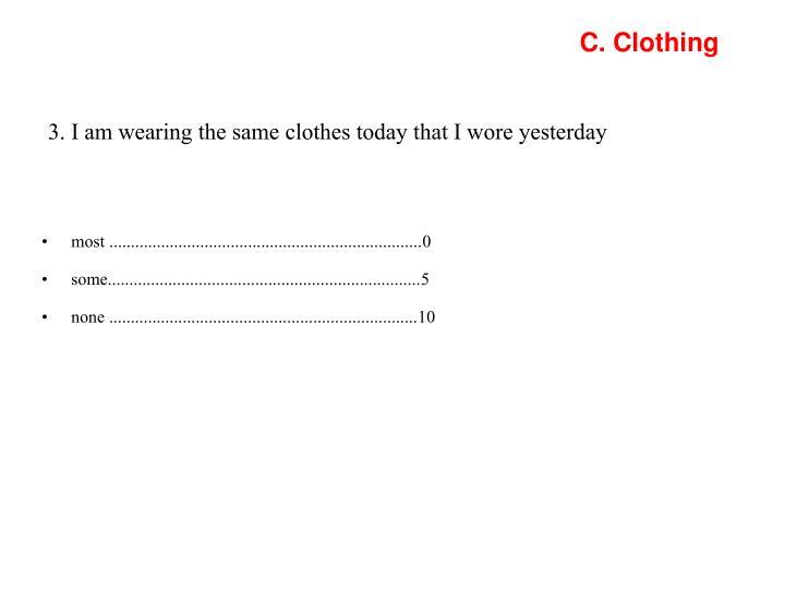 C. Clothing