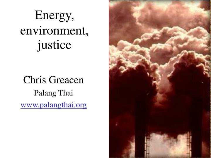 energy environment justice