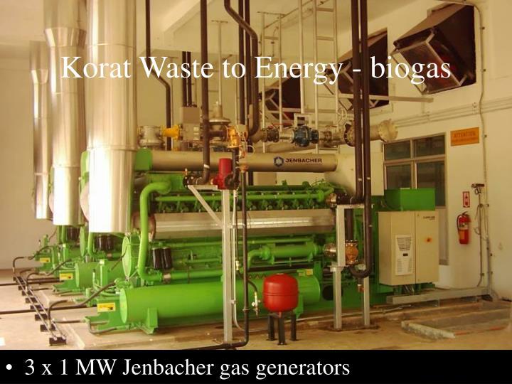 Korat Waste to Energy - biogas