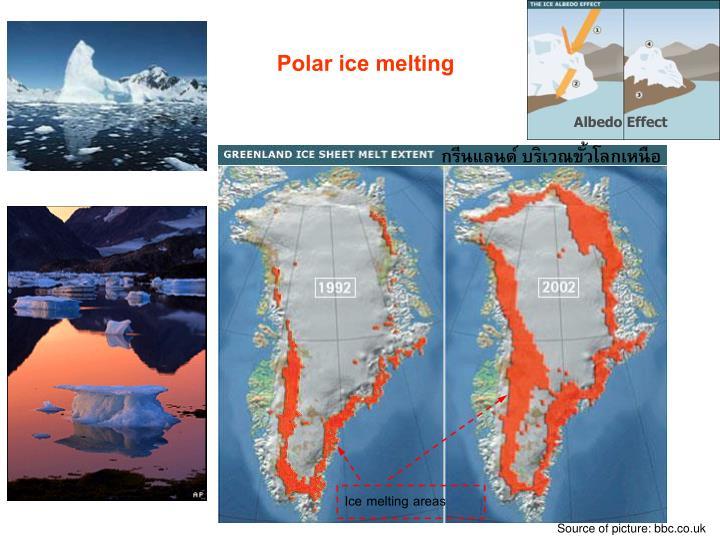 Ice melting areas