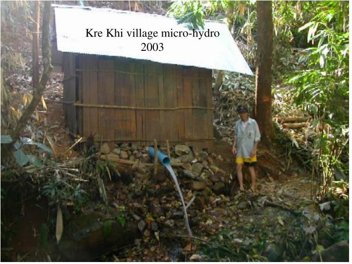 Kre Khi village micro-hydro