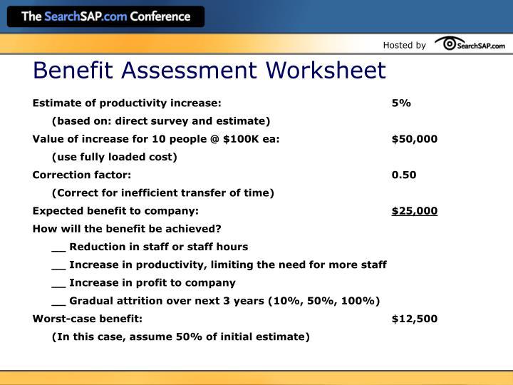 Benefit Assessment Worksheet