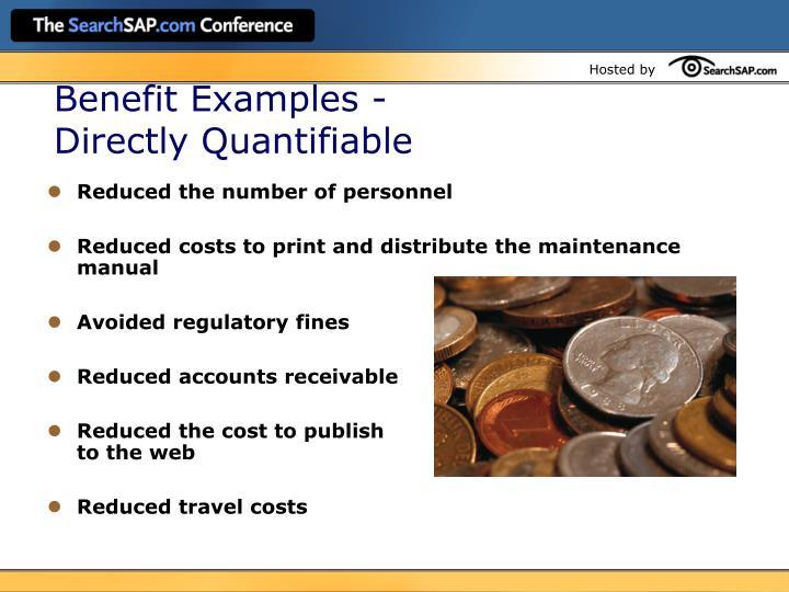 Benefit Examples -