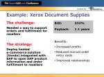 example xerox document supplies