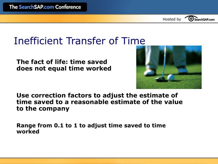 Inefficient Transfer of Time