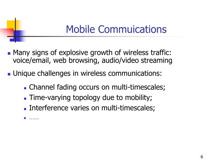 Mobile Commuications
