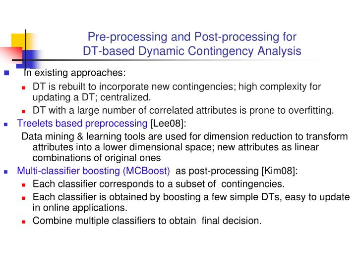Pre-processing and Post-processing for