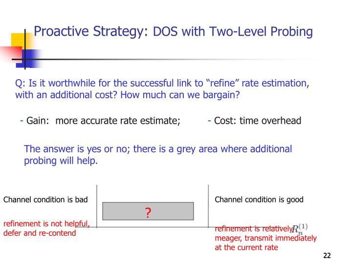 Proactive Strategy: