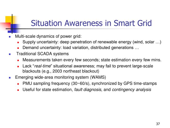 Situation Awareness in Smart Grid