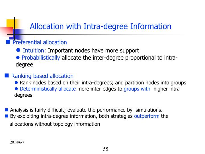 Allocation with Intra-degree Information