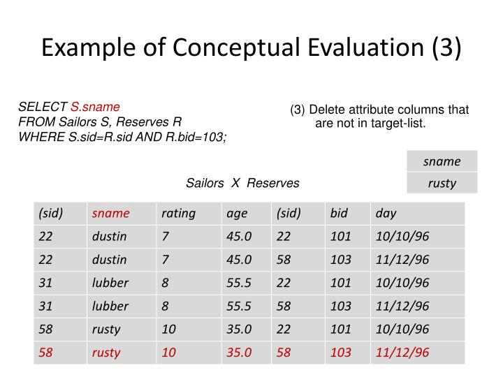 Example of Conceptual Evaluation (3)