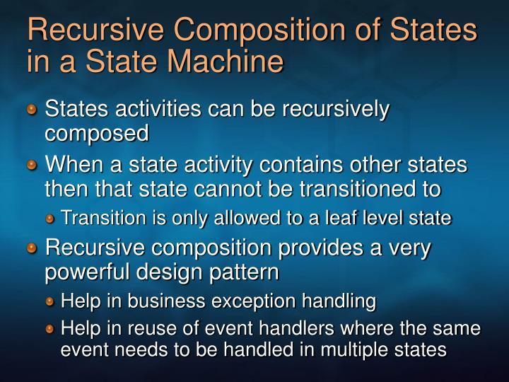 Recursive Composition of States