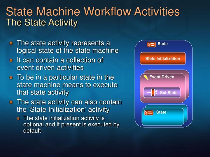 State Machine Workflow Activities