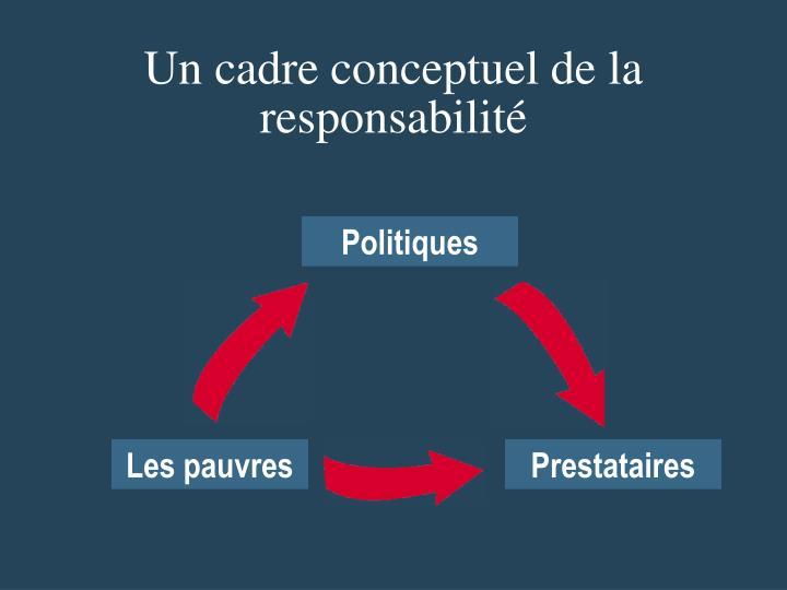 Un cadre conceptuel de la responsabilité