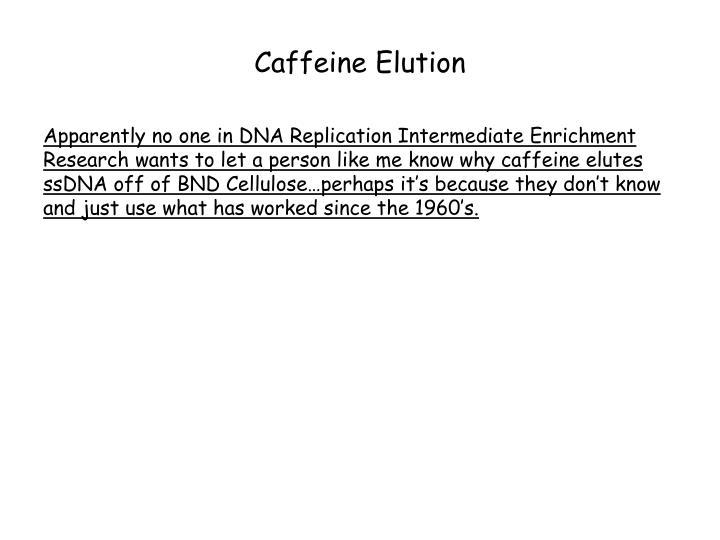 Caffeine Elution