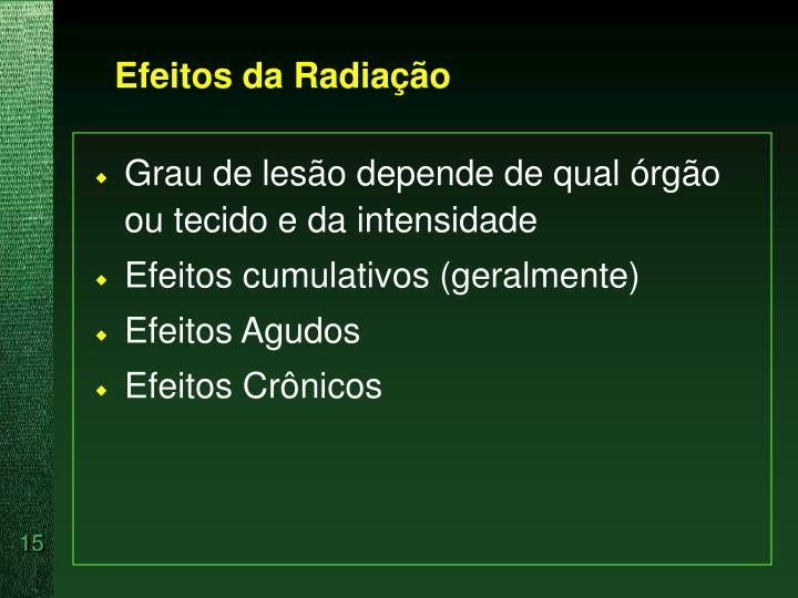 Efeitos da Radiação