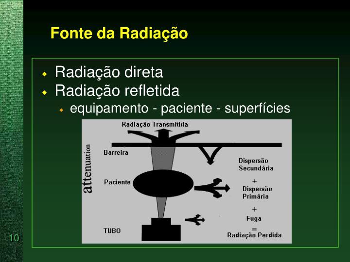 Fonte da Radiação